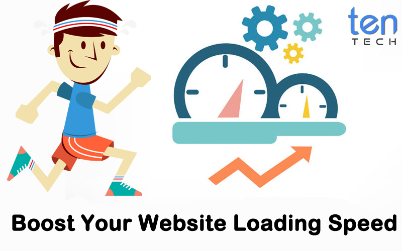Boost Your Website Loading Speed With TenTech Media Logo