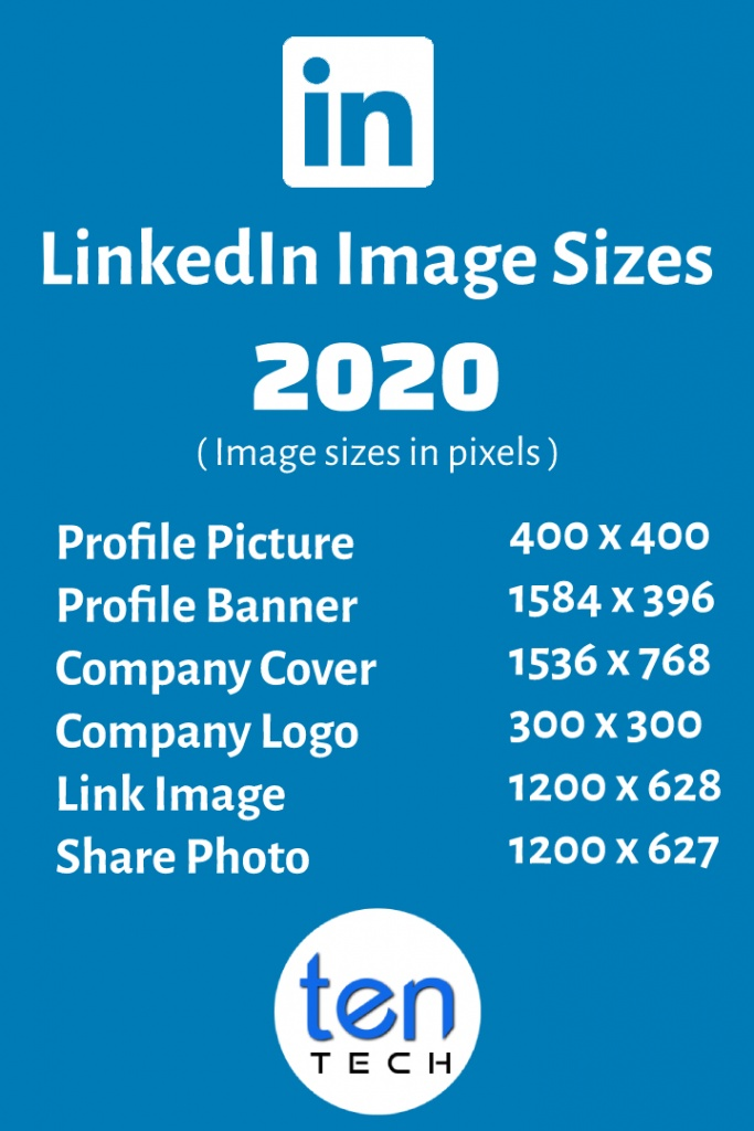 Linkedin Image Sizes in 2020